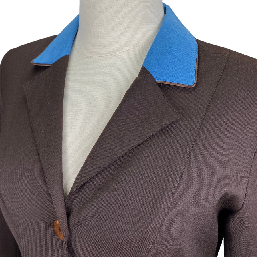 Collar of Winston Equestrian Classic Competition Coat in Brown - Women's EU 40T (US 8T)