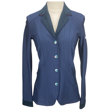 Animo Competition Jacket in Navy Pinstripe
