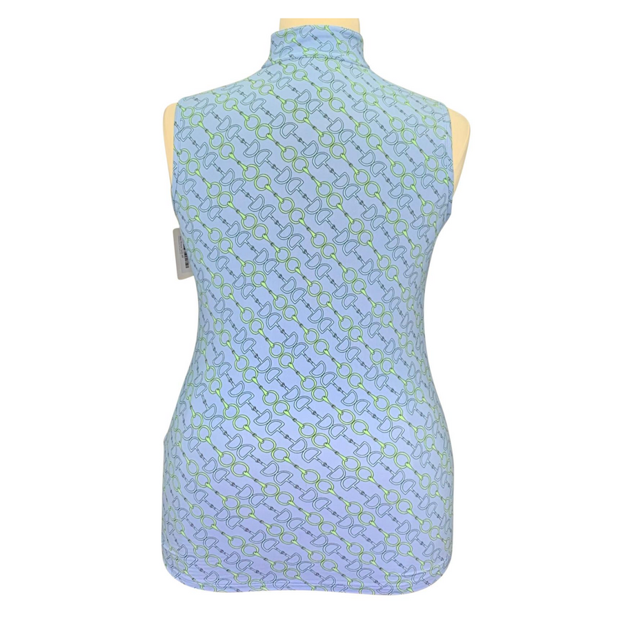 Back of Dover Saddlery CoolBlast IceFil Tank in Serenity Blue Bits