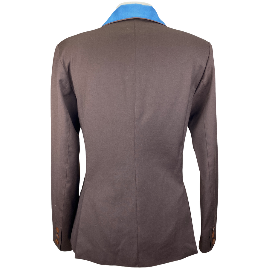 Back of Winston Equestrian Classic Competition Coat in Brown - Women's EU 40T (US 8T)