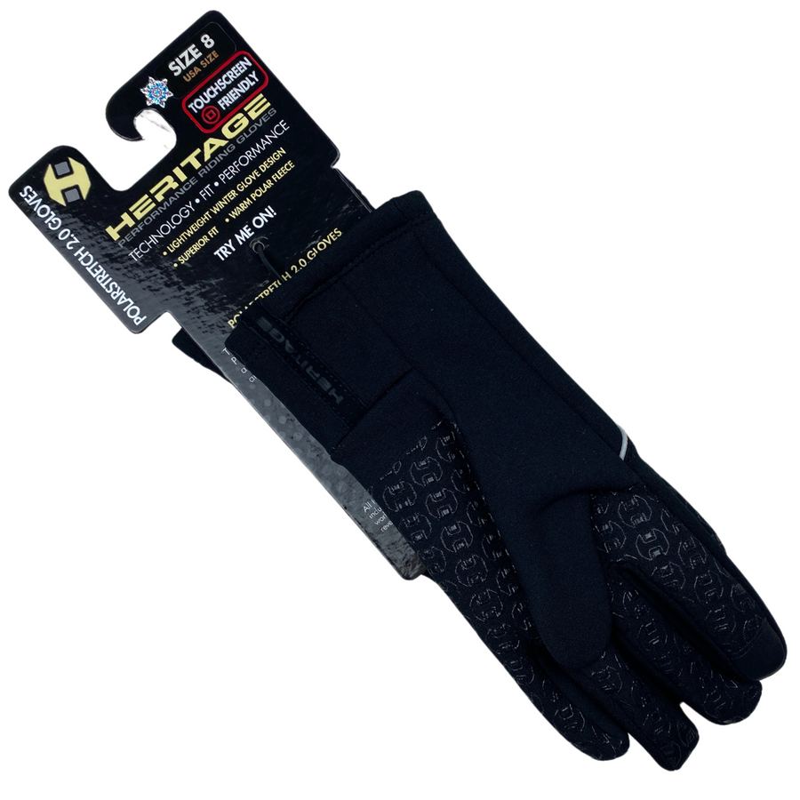 Heritage Polarstretch 2.0 Winter Gloves in Black