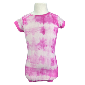Ivivva Seamless Short Sleeve Shirt in Pink Tie Dye - Children's Small