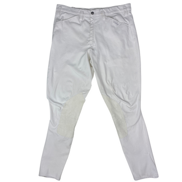 Pikeur Rodrigo Knee Patch Breeches in White - Men's 52 (US 36)