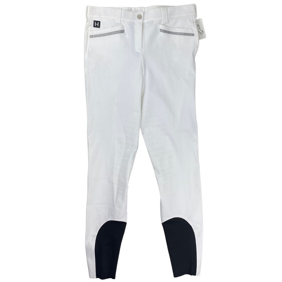 Equiline Helen Breeches in White/Grey Trim