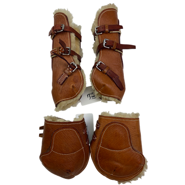 Jimmy's 21st Century Sheepskin Jumping Boots Set in Chestnut