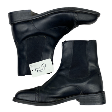 Side of TuffRider Starter Paddock Boots in Black