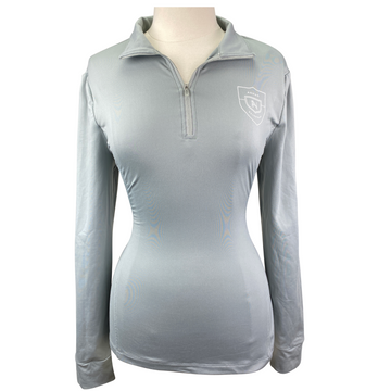 Asmar Equestrian 1/4 Zip Compression Top in Grey - Women's XL