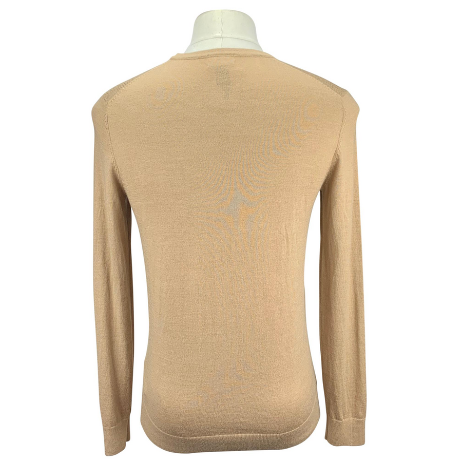 Back of H&M Merino Wool Sweater in Sand