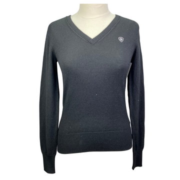 Ariat Merino Wool V-Neck Sweater in Black - Women's Medium