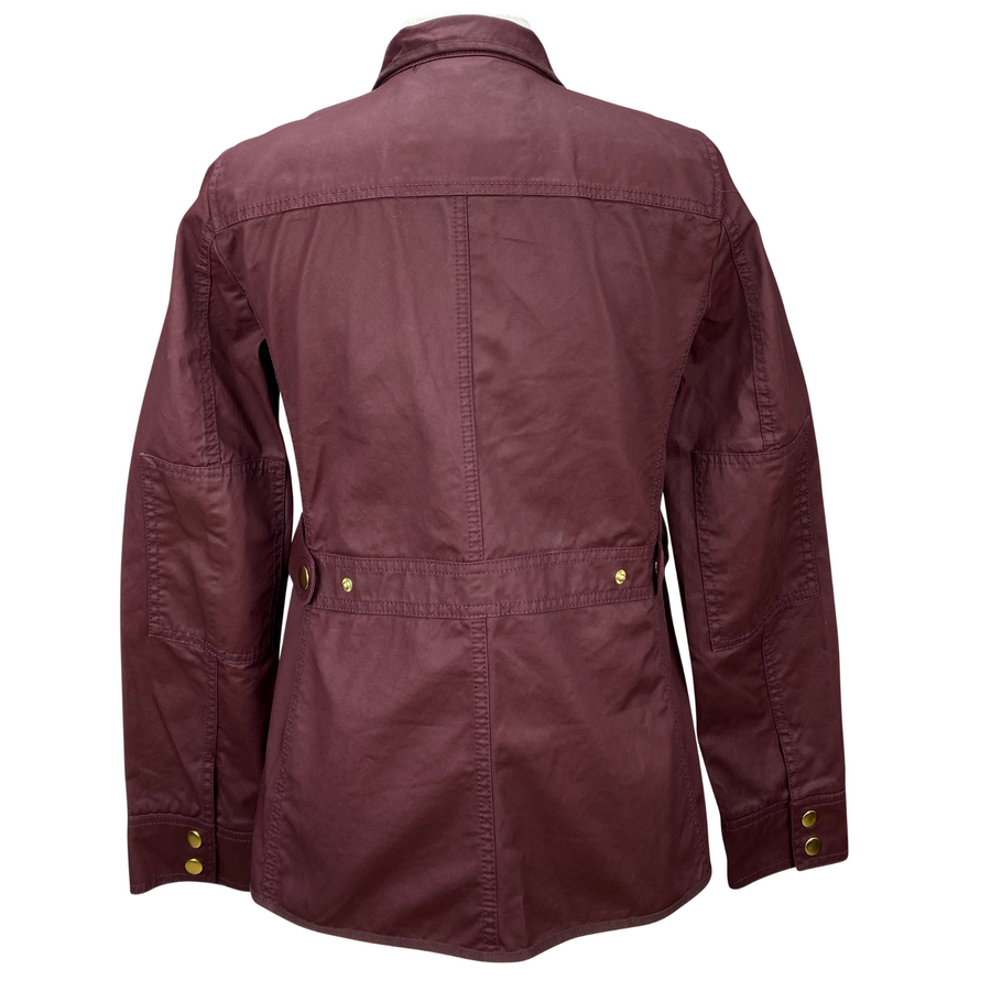 Back of J Crew Downtown Field Jacket in Maroon