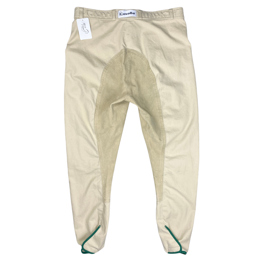 Back of Cavallo Champion Full Seat Breeches in Tan.