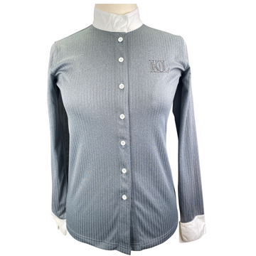 Kingsland Button Down Competition Shirt in Grey - Women's Small