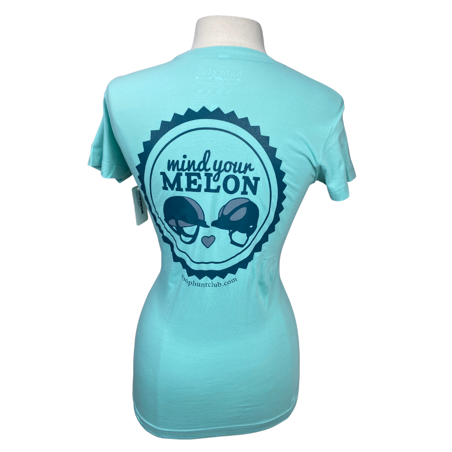 back of Hunt Club 'Mind Your Melon' Tee in Sky Blue - Women's XL
