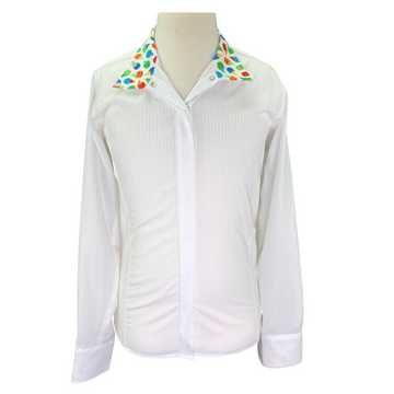 R.J. Classics Cool Prestige Show Shirt in White/Hedgehogs Collar