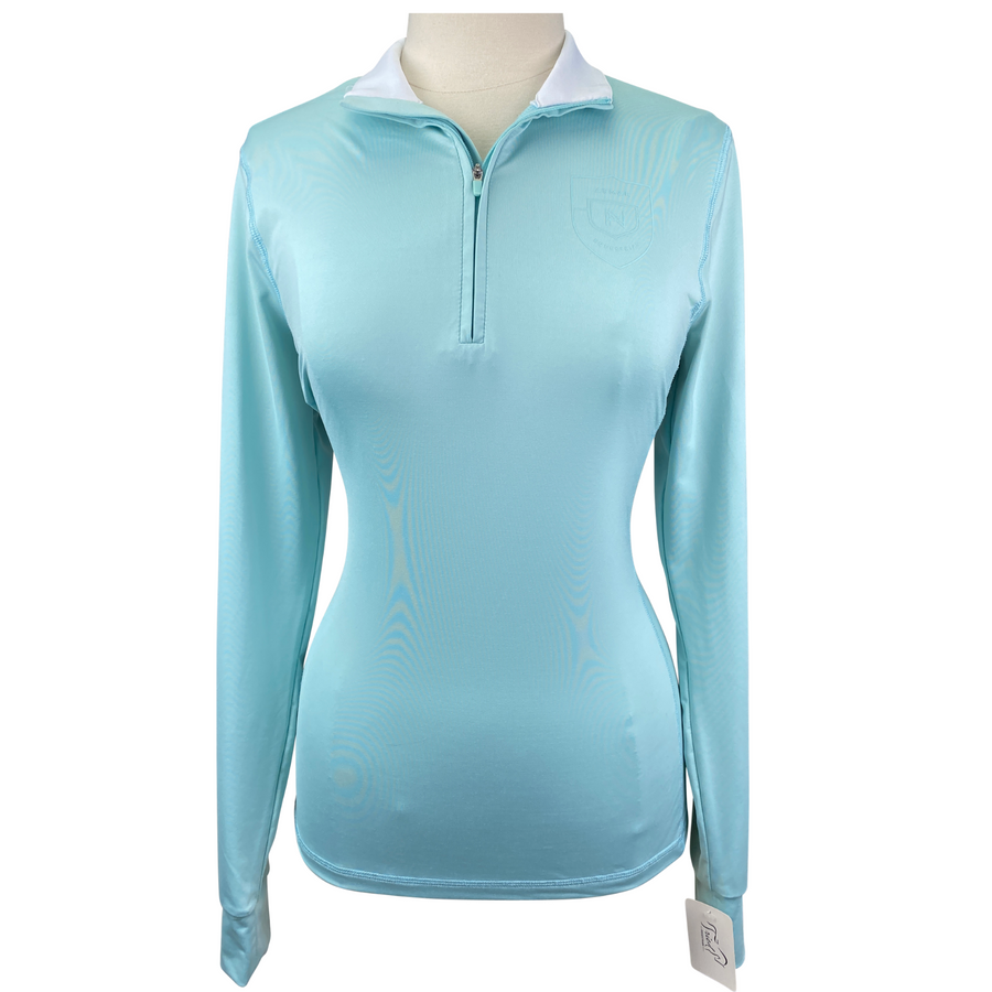 Asmar Equestrian Basic Top in Blue - Women's Large