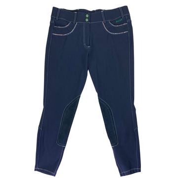 Ariat Olympia Acclaim Knee Patch Breeches in Navy/Floral