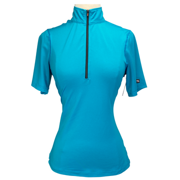 Kerrits Ice Fil Lite Short Sleeve Shirt in Turquoise - Women's XS