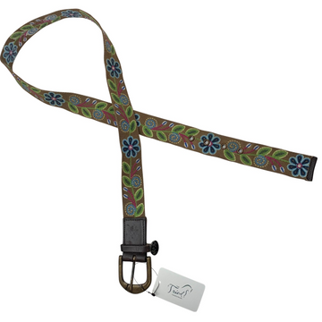 Equine Couture Lilly Cotton Belt in Brown Floral