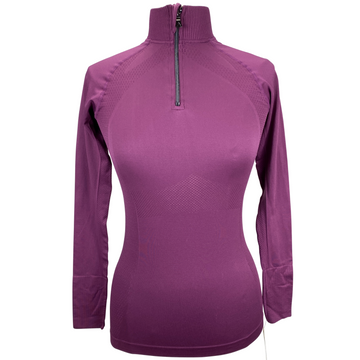 Anique Signature Sun Shirt in Merlot - Women's XS
