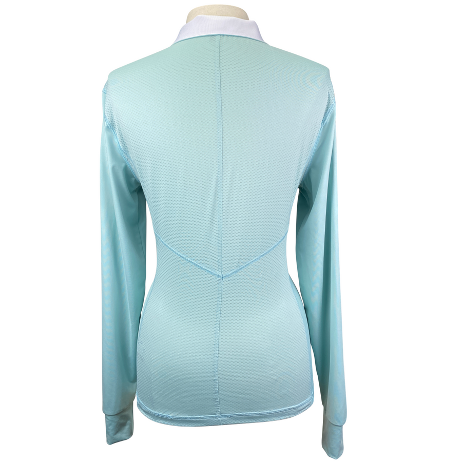 Back of Asmar Equestrian Basic Top in Blue - Women's Large