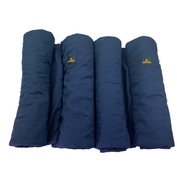 Rolled set of Kentucky Horsewear Stable Bandage Pads in Navy