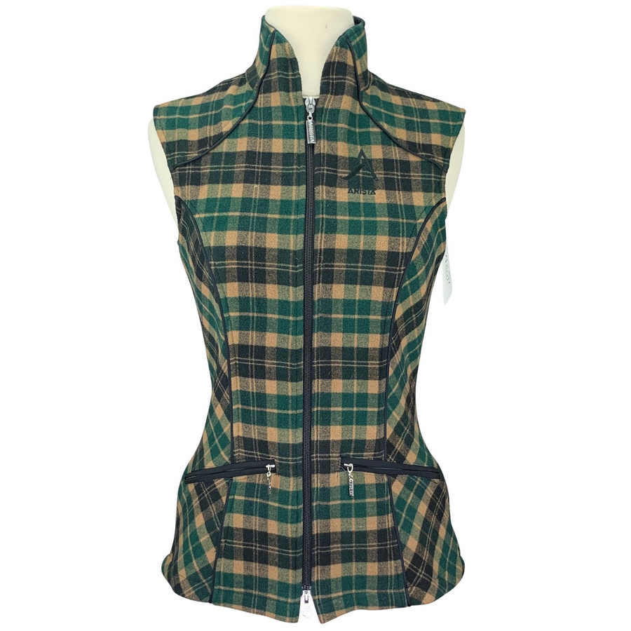 Arista Plaid Vest in Green Plaid