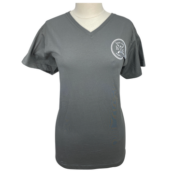 Front of Hunt Club Short Sleeve Tee in Charcoal