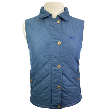 Riding Sport Quilted Vest in Navy