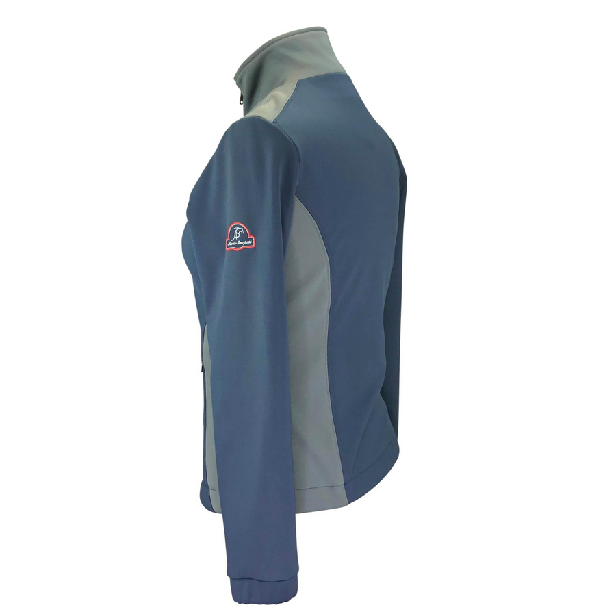 Side view of Anna Scarpati Softshell Jacket in Navy/Grey