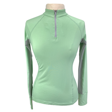 Noble Outfitters Ashley Performance Long Sleeve in Fresh Mint - Women's Medium
