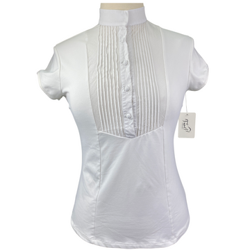 Iago Short Sleeve Show Shirt in White - Women's Medium