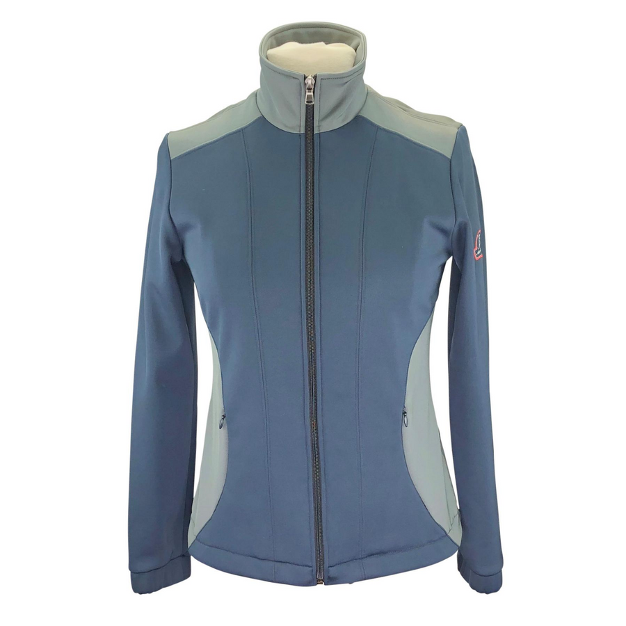 Anna Scarpati Softshell Jacket in Navy/Grey