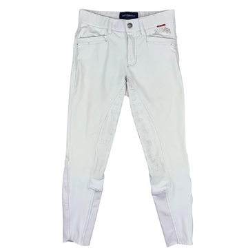 B Vertigo Olivia Full Seat Breeches in White