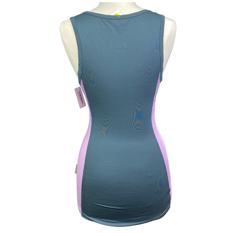 Back of Horseware Aoife Training Tank Top in Violet - Women's Medium