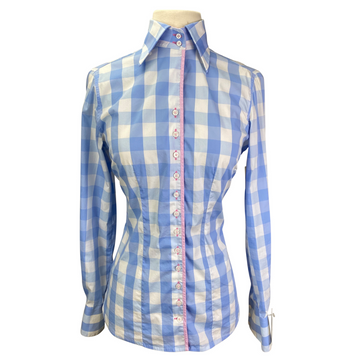 Fior Da Liso Linda Shirt in Light Blue Plaid.
