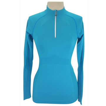 Anique Signature Sun Shirt in Peacock Blue - Women's Small