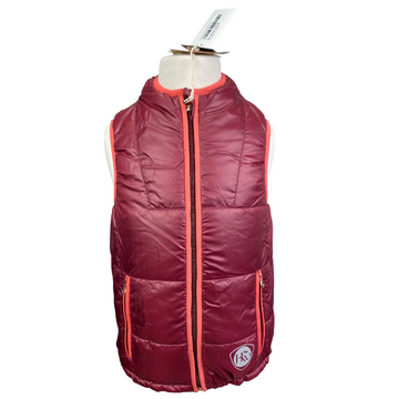 Horseware Reversible Vest in Burgundy/Pink