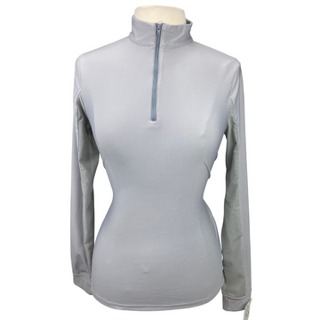 front of EQUO Active Tech Sun Shirt  in Grey - Women's Medium