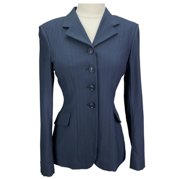 Grand Prix Show Jacket in Navy Pinstripe - Women's EU 8S (US 2S)