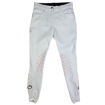 Cavalleria Toscana New Grip Breeches in White/ Pink Grip