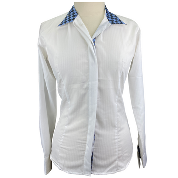 Equine Couture Isabel Show Shirt in White - Women's XL