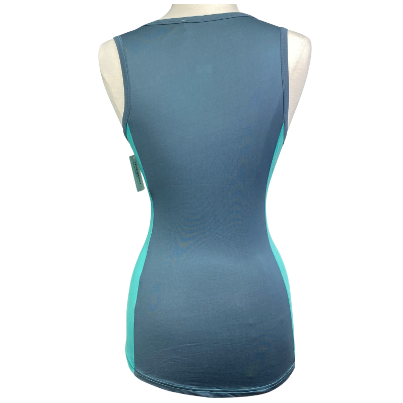 Back of Horseware Aoife Training Tank Top in Turquoise - Women's Medium