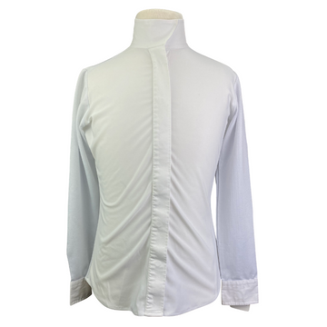 Ovation Long Sleeve Show Shirt in White - Children's 10 | M