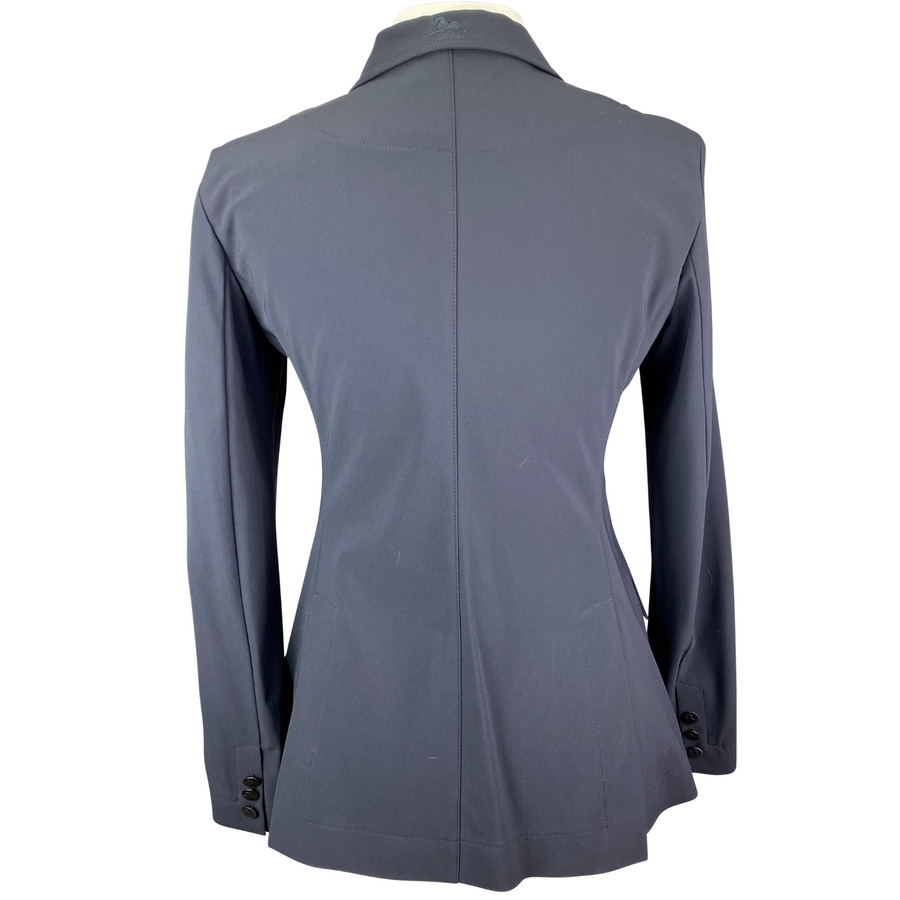 Back of RJ Classics Orange Label Victory Show Coat in Navy - Women's 8R
