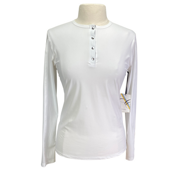 Callidae Tech Practice Shirt in White - Women's Large