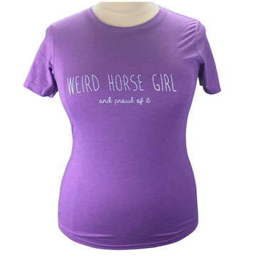 Spiced Equestrian 'Weird Horse Girl' Tee in Purple