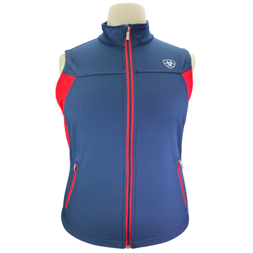 Ariat Team Softshell Vest in Navy/Red - Women's XL