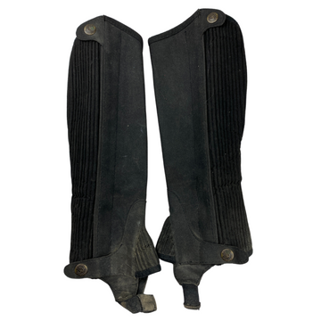Front of Ovation Half Chaps in Black