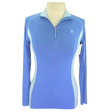 Ariat Heat Series 1/4 Zip Shirt in Blue