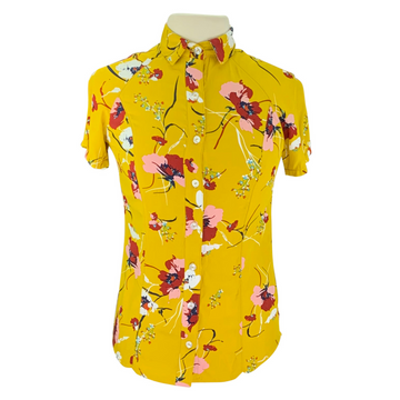 Street & Saddle Floral Horse Camp Short Sleeve in Gold/Floral